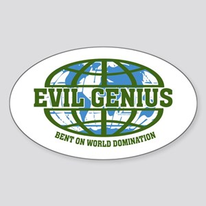 Evil Genius Oval Sticker
