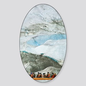 Glacier Approach - Print Sticker (Oval)