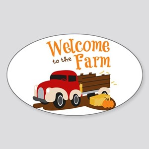 Welcome To The Farm Sticker