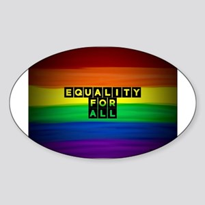 Equality for all . Rainbow art Sticker
