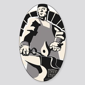 Black_smith_giant-grey Sticker (Oval)