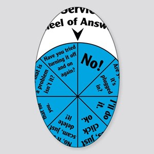 IT Wheel of Answers Sticker (Oval)