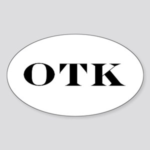OTK Oval Sticker