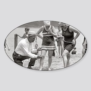Beach Police, 1922 Sticker (Oval)