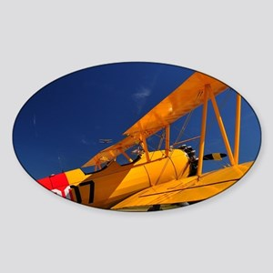 Calendar Shots, Plane Blue Sky (1)  Sticker (Oval)