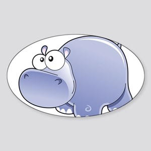 Happy Hippo Sticker