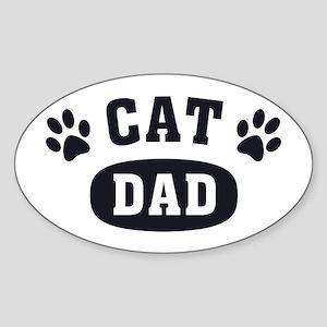 10a6b7787 Cat Dad [b/w] Sticker (Oval)