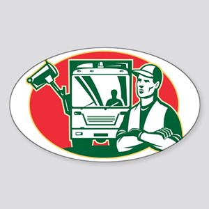 Garbage Collector and Side Loader R Sticker (Oval)