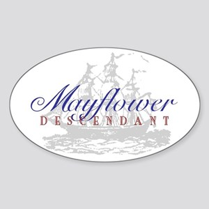Mayflower Descendant - Oval Sticker
