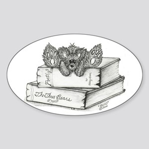 """FLOYD"" Bear - Books Oval Sticker"