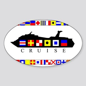 CRUISE-Signal-Flag Sticker (Oval)