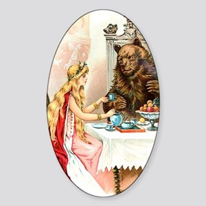 Fairy Tale Collection: Beauty  the  Sticker (Oval)