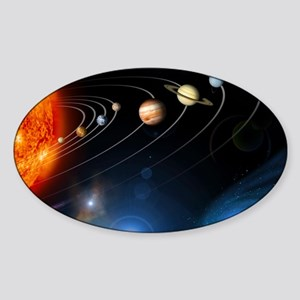 Solar system planets Sticker (Oval)