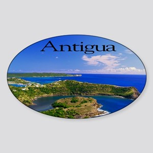 Antigua8x6 Sticker (Oval)