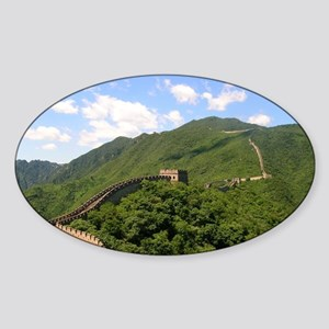 Great Wall of China Sticker (Oval)