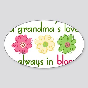 Grandma's Love Sticker (Oval)