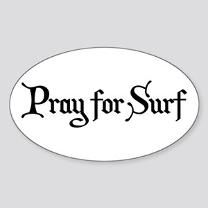 Pray for Surf Sticker (Oval)