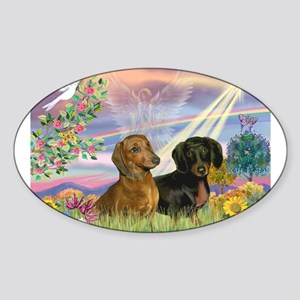 Cloud Angel Doxies Sticker (Oval)