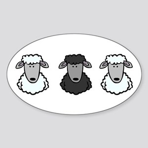 Black Sheep Of the Family Oval Sticker