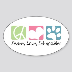 Peace, Love, Schnoodles Sticker (Oval)
