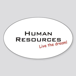 Human Resources / Dream! Oval Sticker
