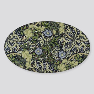 William Morris Seaweed Sticker (Oval)