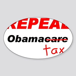 repeal obamacaretax shirt Sticker (Oval)