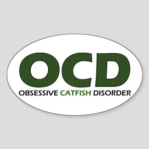 Obsessive Catfish Oval Sticker