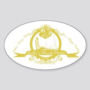 Belle's Book Shoppe Oval Sticker