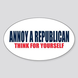 Annoy a Republican Sticker