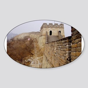 Great Wall Panorama Oval Sticker