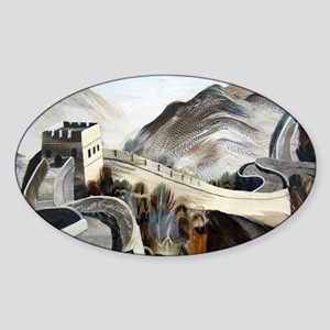 Chinese Great Wall Sticker (Oval)
