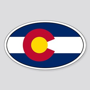 Colorado Flag Stickers Oval Sticker