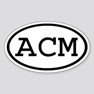 ACM Oval Oval Sticker