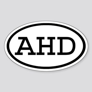 AHD Oval Oval Sticker
