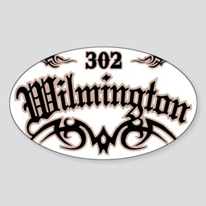 Wilmington 302 Sticker (Oval)