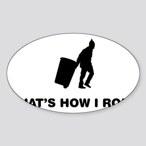 Waste-Collector-12-A Sticker (Oval)