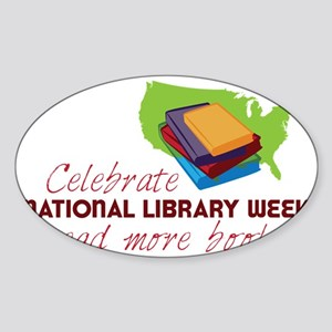 Library Week Sticker (Oval)