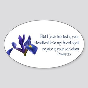 Psalm 13:5 Sticker (Oval)