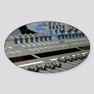 Mixing Console Sticker (Oval)
