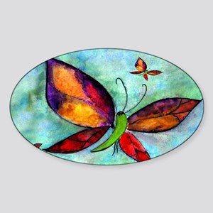 Butterfly Art Sticker (Oval)