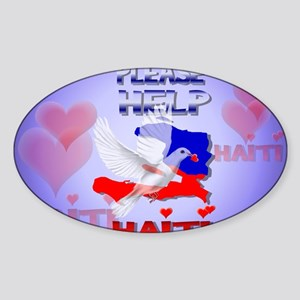 PleaseHelpHaiti-Yardsign Sticker (Oval)