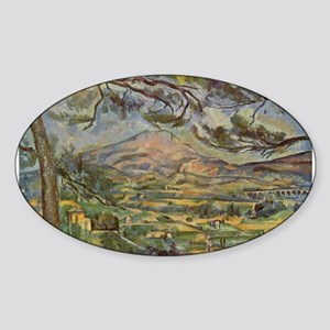 Mont Sainte Victoire Sticker (Oval)