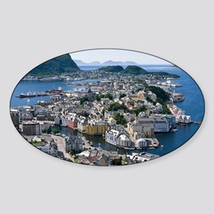 Alesund, Norway - Sticker (Oval)