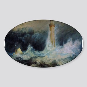 Bell Rock Lighthouse Sticker (Oval)