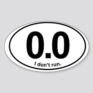 0.0 Sticker (Oval)