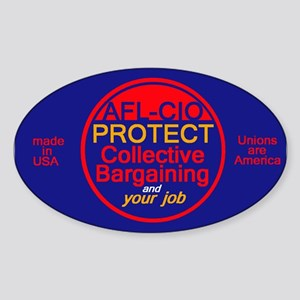 Collective Bargaining Sticker (Oval)