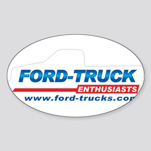 Ford-Trucks Sticker (Oval)