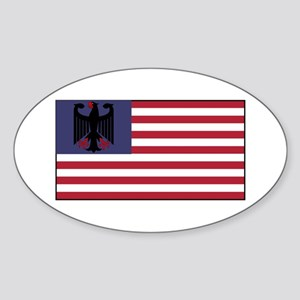 German American Sticker (Oval)