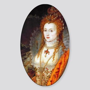 Queen Elizabeth I Sticker (Oval)